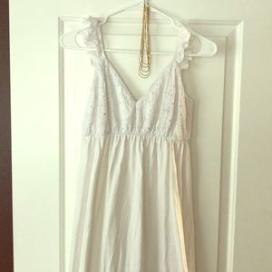 ASOS Maternity white eyelet dress